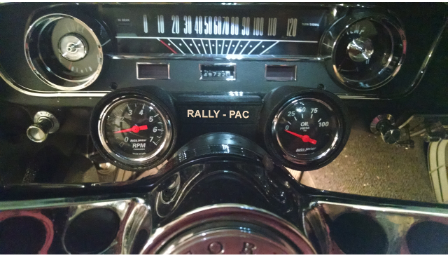 Photo of Rally-Pac Style Gauge Cluster in Early Mustang